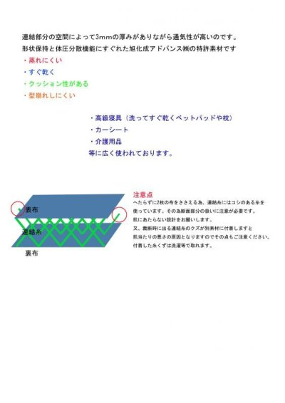 画像1: 反売り★旭化成の三次元立体編物★フュージョン★ダブルラッセル
